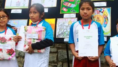 Colegios de La Victoria destacaron en el XXV Concurso de Dibujo y Pintura 2015 por el Día Olímpico